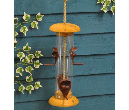 Nature Range 4-port Wooden Bird Seed Feeder by Tom Chambers