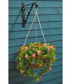 Bizzie Lizzie Artificial 30cm Hanging Basket by Smart Garden