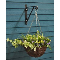 Purple And Yellow 30cm Artificial Hanging Basket by Smart Garden