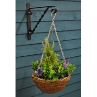 Artificial Lavender & Eucalyptus Topiary Hanging Basket (25cm)