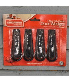 4 Pack of Rubber Door Stop Wedges by Kingfisher