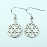 Honeycomb Heart Drop Earrings
