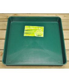 Square Plastic Gravel Soil Mixing Potting Tray in Green by Garland