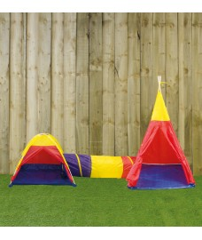 Play Set with Tents and Tunnel by Kingfisher