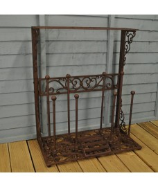 Decorative Cast Iron Boot Storage Rack by Fallen Fruits