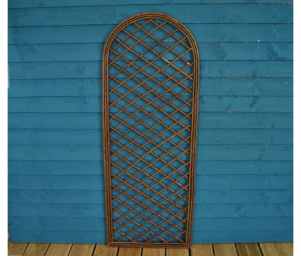 Willow Trellis Panel With Curved Top (120cm x 45cm)