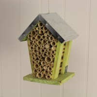 Bee House Nest with Zinc Roof by Fallen Fruits