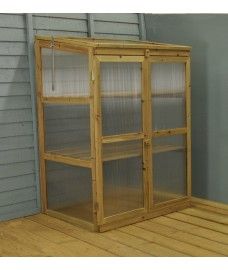 Polycarbonate & Wooden Growhouse by Gardman