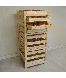 Traditional Wooden Apple Storage Rack (10 Drawer)