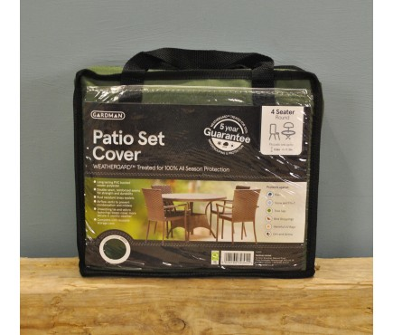 6 Seater Round Patio Furniture Set Cover (Premium) in Green by Gardman