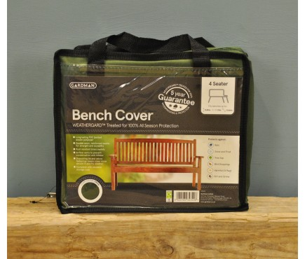 4 Seater 1.8m Bench Cover (Premium) in Green by Gardman