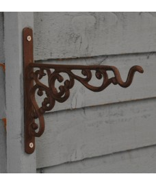 Cast Iron Decorative Hanging Basket Bracket (20cm) by Fallen Fruits