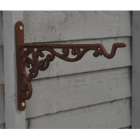 Cast Iron Decorative Hanging Basket Bracket (25cm) by Fallen Fruits