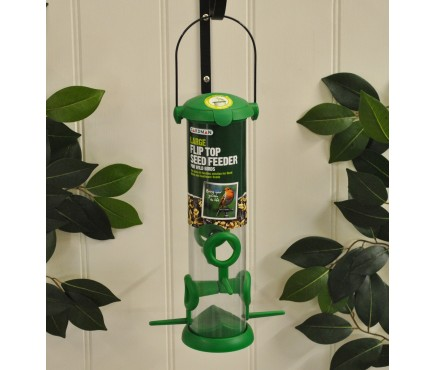 Large Flip Top Seed Bird Feeder by Gardman