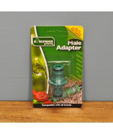 Male Garden Hose to Hose Connector by Kingfisher