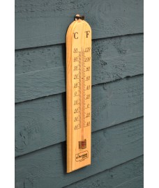 Wooden Garden Thermometer by Kingfisher
