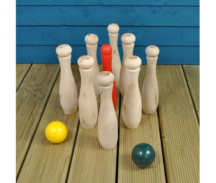 Wooden Skittles Garden Game Set by Kingfisher