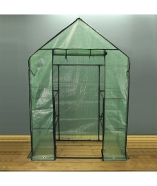 Compact Walk-in Greenhouse With Shelving by Gardman