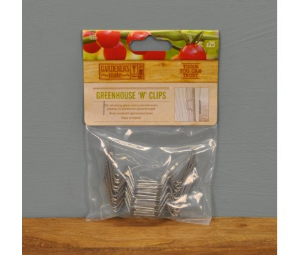 Galvanised Greenhouse Fixing Clips (Pack of 25) by Gardman