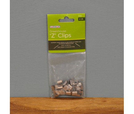 Greenhouse Z Polycarbonate Fixing Clips by Gardman