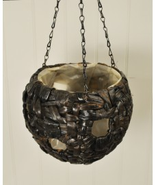 Water Hyacinth Ball Hanging Basket with Holes (23cm) by Gardman
