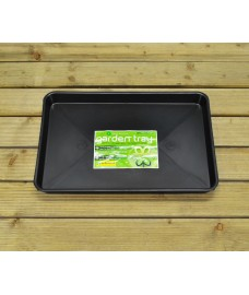 Plastic Gravel Soil Mixing Potting Tray in Black by Garland