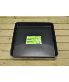 Square Plastic Gravel Soil Mixing Potting Tray in Black by Garland