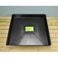 Plastic Metre Square Soil Mixing Potting Tray in Black by Garland