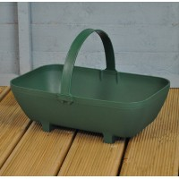 Small Plastic Trug Shaped Planter in Green by Garland