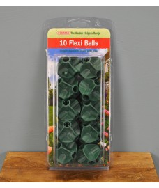 Flexi Balls Bamboo Cane Connectors (Pack of 10) by Bosmere