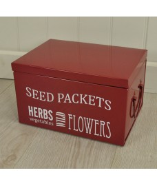 Seed Packet Organiser in Burgundy by Burgon & Ball