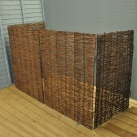 Willow Wheelie Bin Screen (Triple)