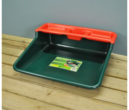 Plant Potting Tidy Tray with Shelf in Green & Red by Garland