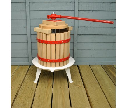 Traditional Fruit and Apple Press (12 Litre) with Straining Bag