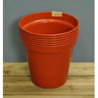 Round Plastic 10cm Plant Pot (Set of 6) by Kingfisher