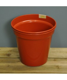 Round Plastic 18cm Plant Pot (Set of 2) by Kingisher