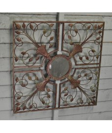 Moorish Mirror Antique Metal Wall Art