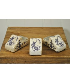 Blue & White Ceramic Pot Feet (Set of 3) by Fallen Fruits