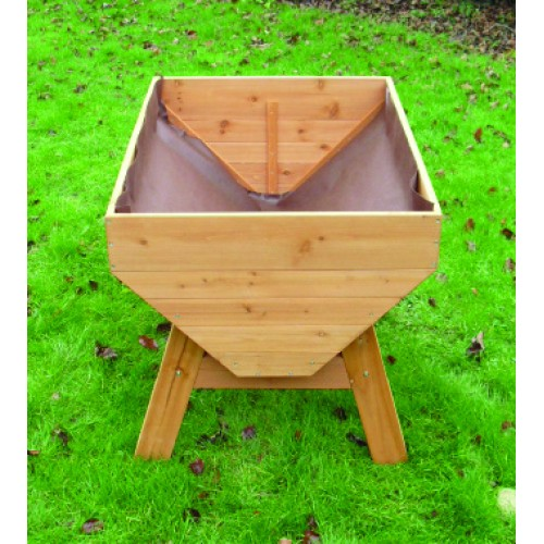 Veg Trough Medium Wooden Raised Vegetable Bed Planter By