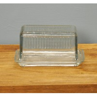 Louella Vintage Glass Butter Dish by Garden Trading