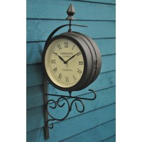 Victorian Paddington Station Style Garden Wall Clock by Kingfisher