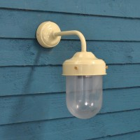 Barn Lamp Wall Light in Clay (Mains) by Garden Trading
