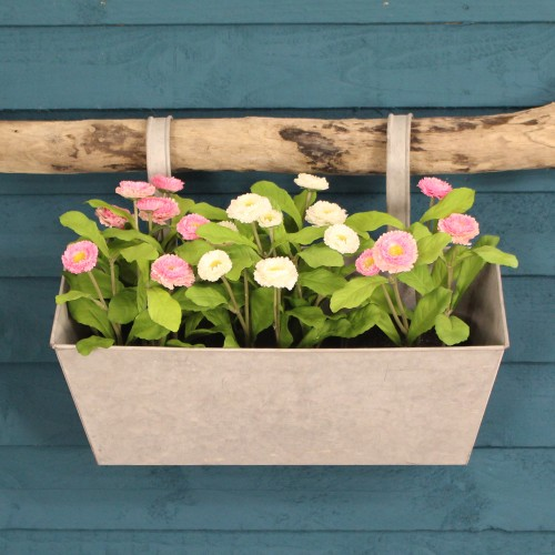 Zinc Balcony Hanging Planter by Fallen Fruits on round corrugated planters, wall mounted planters, aluminum planters, iron planters, plastic planters, corrugated raised planters, window boxes planters, urn planters, chrome planters, large planters, lead planters, copper finish planters, old planters, resin planters, bucket planters, pewter planters, stainless steel planters, stone planters, long rectangular planters, tall planters,