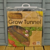 Black Net Grow Tunnel Cloche (3m) by Kingfisher