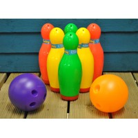 Plastic Garden Bowling Set by Kingfisher