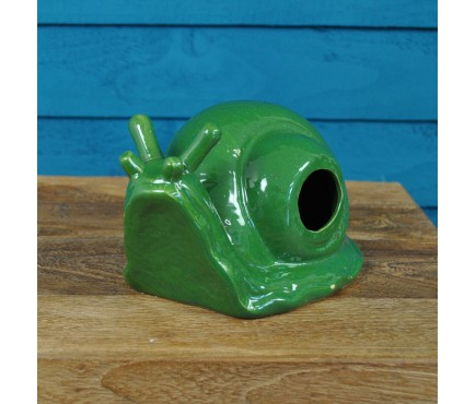 Ceramic Snail Shaped Slug Beer Trap by Fallen Fruits