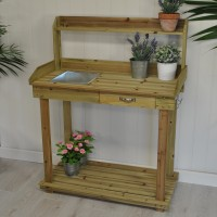 Wooden Garden Potting Table by Kingfisher