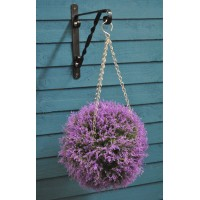 Purple Heather Effect Artificial Topiary Ball by Gardman