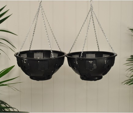 Set of 2 Easy Fill Hanging Baskets (36cm)