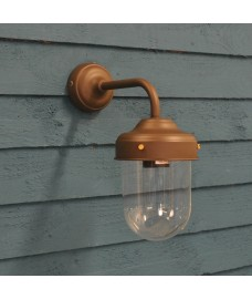 Barn Lamp Wall Light in Coffee Bean (Mains) by Garden Trading